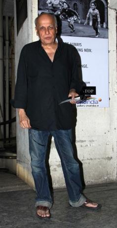 Mahesh Bhatt during the Highway special screening at PVR