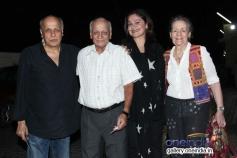 Mahesh Bhatt and Pooja Bhatt during the Highway special screening at PVR