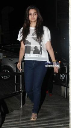 Alia Bhatt during the Highway special screening at PVR