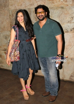 Arshad Warsi with wife Maria Goretti at Shaadi Ke Side Effects special screening