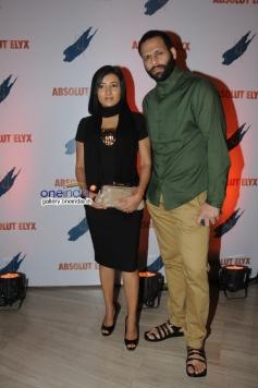 Bikram Saluja with wife Schauna at Suchitra Pillai's Absolut Elyx Party