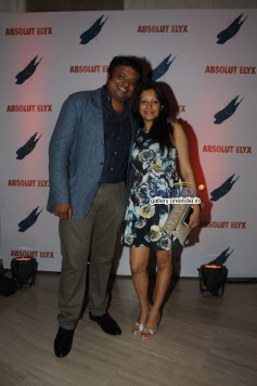 RJ Hrish K with wife at Suchitra Pillai's Absolut Elyx Party