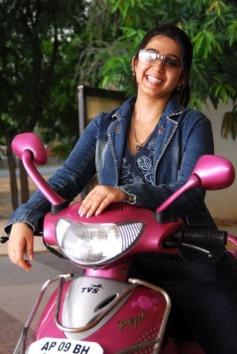 Charmy Kaur still on bike