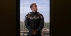 Chris Evans still from film Captain America The Winter Soldier