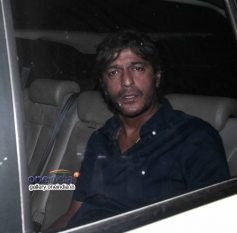 Chunky Pandey snapped at Mannat on SRK's party