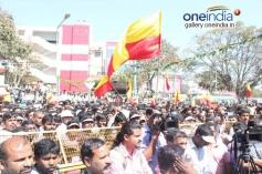 Crowd at Dr. Vishnuvardhan Road inauguration
