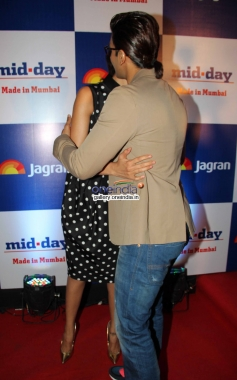 Deepika Padukone and Ranveer Singh at Mid Day newspaper's relaunch party