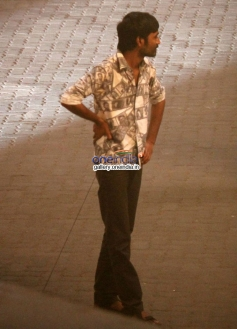 Dhanush on the sets of R Balki's untitled film