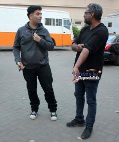 Karan Johar snapped shooting for R Balki's untitled film