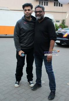 Karan Johar snapped during the shooting for R Balki's untitled film