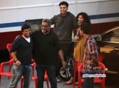 Karan Johar with Dhanush snapped shooting for R Balki's untitled film