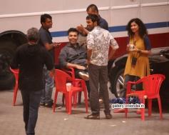 Dhanush and Karan snapped shooting for R Balki's untitled film