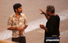 Dhanush with R Balki during his untitled film shooting