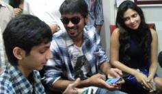 Dhanush, Amala Paul and Anirudh at Suryan FM