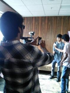 Dhanush take a snap of Anirudh at Velai Illa Pattathari audio launch