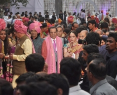 Dharmendra and Hema Malini at Ahana Deol and Vaibhav Vohra's Wedding