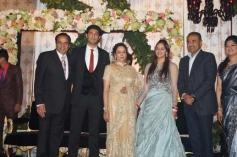 Dharmendra and Hema Malini's daughter Ahana Deol and  Vaibhav Vora wedding reception in Delhi