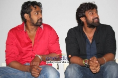 Dhruva Sarja, Chiranjeevi Sarja at Rudra Tandava Movie Press Meet