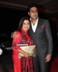 Farah Khan and Abhishek Bachchan at Mid Day newspaper's relaunch party