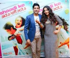 Farhan Akhtar and Vidya Balan promote Shaadi Ke Side Effects in Dubai