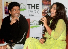 Farhan Akhtar and Vidya Balan promote their film Shaadi Ke Side Effects in Kolkata