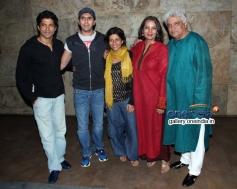 Farhan Akhtar, Zoya, Shabana and Javed Akhtar Shaadi Ke Side Effects special screening