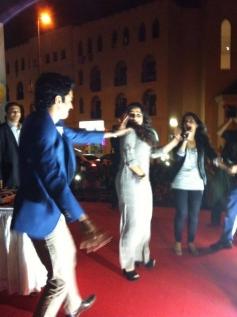 Farhan and Vidya promote Shaadi Ke Side Effects in Dubai