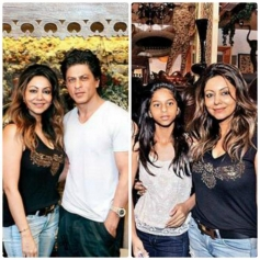 Gauri Khan husband Shahrukh Khan and daughter Suhana at her The Design Cell store launch