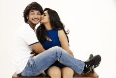 Gautham Karthik and Nikeesha Patel still from film Ennamo Edho