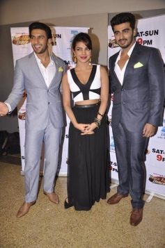 Gunday film starcast Ranveer, Priyanka and Arjun on sets of DID season 4