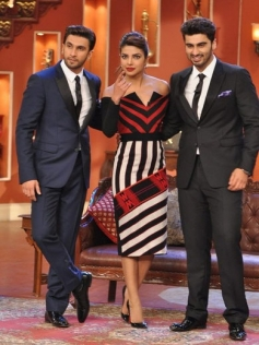 Gunday film stars on the sets of Comedy Nights with Kapil