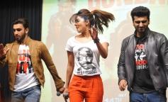 Gunday film stars at Welingkar College
