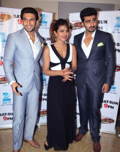 Gunday promotions on Dance India Dance sets