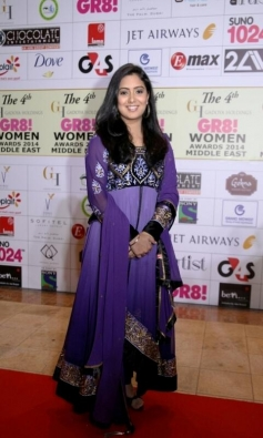 Harshdeep Kaur at GR8 Women Awards 2014 redcarpet
