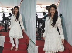 Ileana D'Cruz at Anurag Basu's Saraswati Pooja celebrations