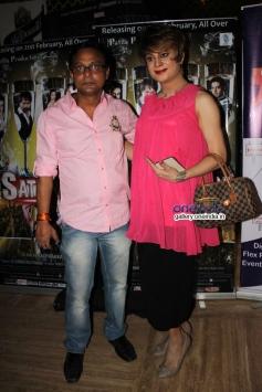 Jai Prakashi and Bobby Darling at premier of the film Dee Saturday Night