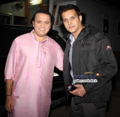 Jimmy Shergill and Mandar Chandwadkar on the sets of Taarak Mehta Ka Ooltah Chashmah