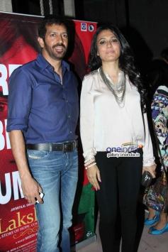 Kabir Khan with wife Mini Mathur at Lakshmi film success bash