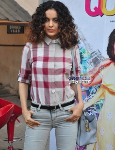 Kangna Ranaut snapped while promoting film Queen at Mehboob Studios Bandra