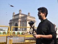 Karan Johar shoots for TV show Mission Sapne at Gateway of India