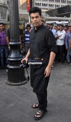 Karan Johar shoots for TV show Mission Sapne