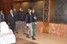 Katrina and Hrithik leave the Marina Hotel in Shimla