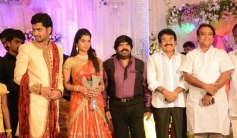 Keyaar at T Rajendar Daughter Ilakiya Wedding Reception