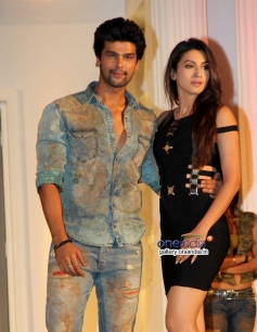 Kushal and Gauhar at Fear Factor Khatron Ke Khiladi 5 press conference