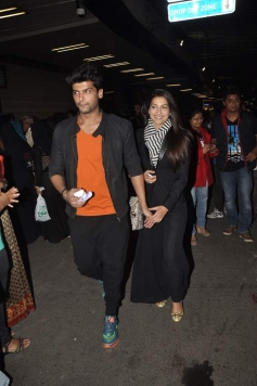 Kushal Tandon and Gauhar Khan leave for South Africa