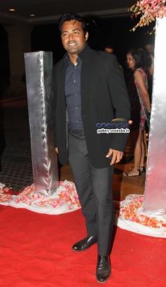 Leander Paes at Siddharth Kannan and Neha Agarwal wedding reception