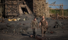 Logan Lerman and Russell Crowe still from Noah