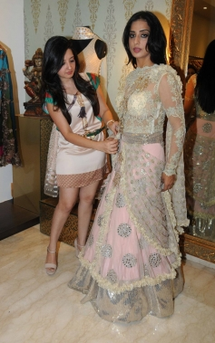 Mahi Gill during her makeover by fashion designer Amy Billimoria for film Gangs Of Ghosts