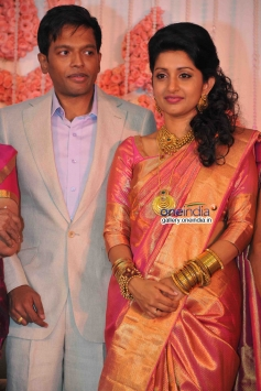 Meera Jasmine and Anil John Titus wedding reception