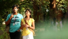 Nakul and Mrudhula Basker still from film Vallinam